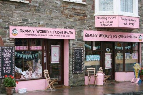 Granny Wobbly's Fudge Pantry, Tintagel