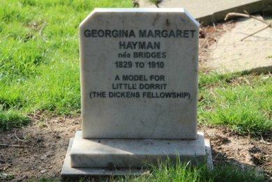 Grave of Georgina Margaret Hayman, inspiration for Charles Dickens 'Little Dorrit'. Highland Road Cemetery, Southsea