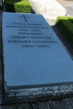 Grave of John Strange Spencer Churchill and Peregrine Churchill, St. Martin's Churchyard, Bladon
