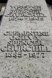 Grave of Sir Winston Churchill and his wife, Clementine, St. Martin's Churchyard, Bladon