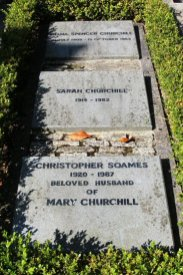 Graves of Diana and Sarah Churchill and Christopher Soames, St. Martin's Churchyard, Bladon