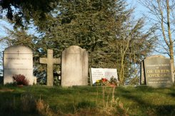 Graves of Norman Del Mar, Sir Thomas Beecham and Dr. Eileen Joyce, St. Peter's Churchyard, Limpsfield