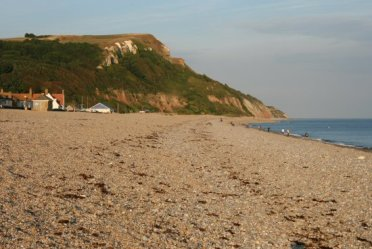 Haven Cliff and east beach, Seaton