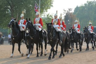 Household Cavalry, Horse Guards Parade. Royal Wedding, 29th April 2011
