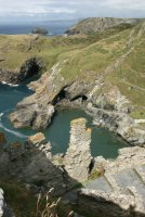 Inner Ward, from the summit of The Island, Tintagel Castle, Tintagel