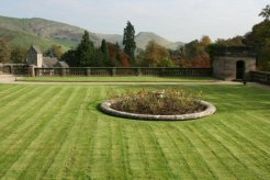 Italian Gardens, from Manifold Tea Rooms, Ilam Park, Ilam, Peak District
