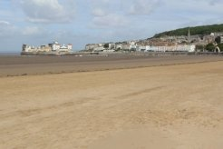 Knightstone Island, from beach, Weston-super-Mare