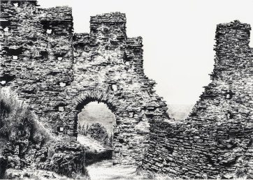 Limited Edition Print by Alison Avery, North Gate, Inner Ward, Tintagel Castle