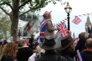 London Eye and spectators, Queen's Diamond Jubilee, Thames Pageant