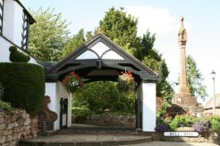 Lychgate and the Cross, Bull Ring, Claverley