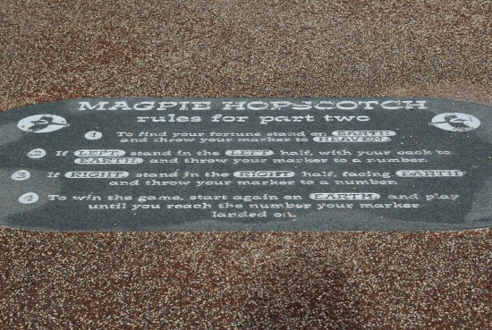 Magpie Hopscotch game rules, Stone Jetty, Morecambe