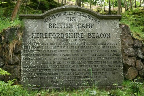 Malvern Hills Conservators stone, The British Camp or Herefordshire Beacon, Malvern Hills