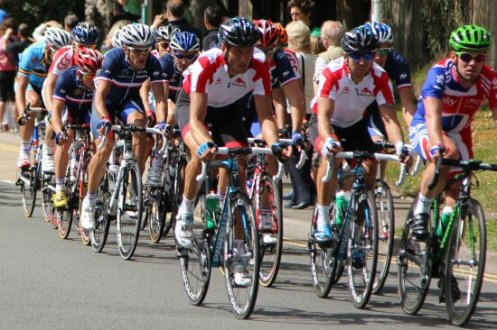 Mark Cavendish and English team. London – Surrey Cycle Classic Race, 14th August 2011