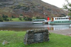 Memorial to Donald Campbell and Ullswater Steamers, Glenridding, Ullswater