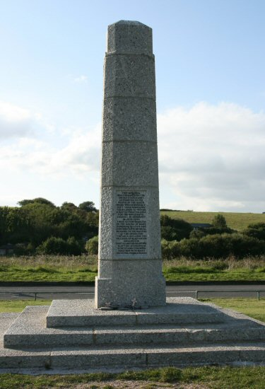 Memorial presented by United States Army, to the people of the South Hams. Slapton Sands, Slapton