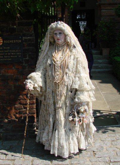 Miss Havisham, Great Expectations. Charles Dickens' Festival, Rochester