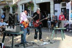 Musicians, Bucky Doo Square, Bridport Hat Festival, 2012, Bridport