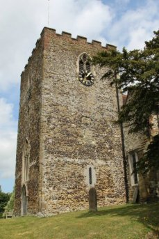 Norman tower, St. Mary's Church, Oxted