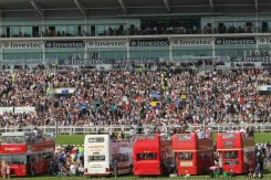 Open top buses and Duchess's Stand, Queen's Diamond Jubilee, The Epsom Derby