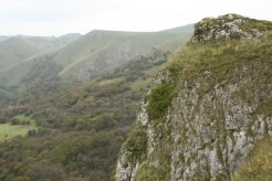 Ossoms Hill, from above Thor's Cave, Manifold Valley, Peak District