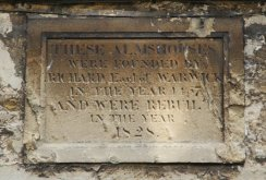 Plaque, Almshouses, Church Green, Burford