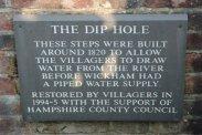 Plaque, The Dip Hole, Wickham