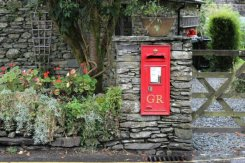 Post Box, Peter Rabbit's Almanac (February), Beatrix Potter, Near Sawrey