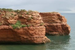 Red sandstone cliffs, Ladram Bay, near Sidmouth