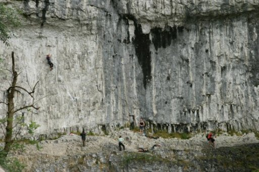 Rock climbing, Malham Cove