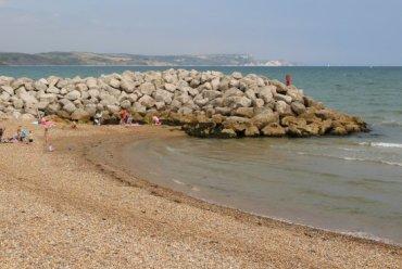 Rock Groyne, between Greenhill Beach and Preston Beach, Weymouth