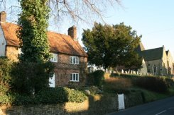 Rose Cottage and St. Peter's Church, Limpsfield