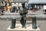 Sculpture of Robert Baden-Powell, founder of the Scout Movement 1908. The Quay, Poole