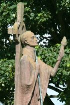 Statue of St. Aidan, St. Mary's Churchyard, Holy Island, Lindisfarne
