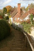 Steps leading down from St. Andrew's Church, Rockbourne