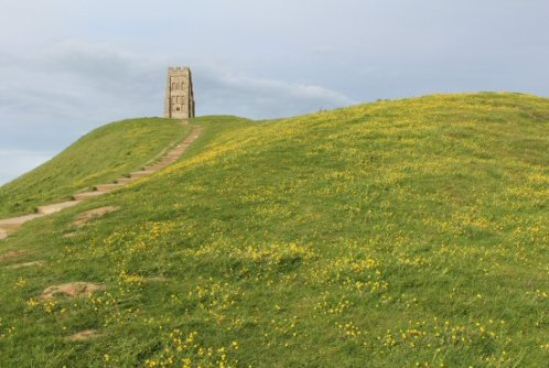 Steps to St. Michael's Church Tower, Glastonbury Tor, Glastonbury