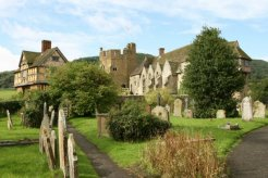Stokesay Castle, from St. John the Baptist Churchyard, Stokesay