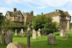 Stokesay Castle, from St. John the Baptist Churchyard, Stokesay