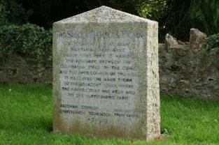 Stone, marking Salcombe Regis Thorn, (hawthorne) Salcombe Regis, near Sidmouth