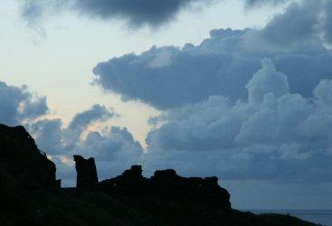 Storm clouds over Tintagel Castle, Tintagel
