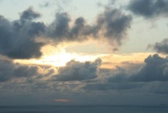 Stormy sunset, from Glebe Cliff, Tintagel