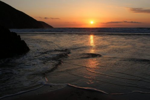 Sunset, Putsborough Sands, near Croyde