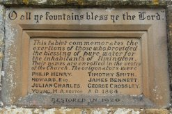 Tablet, The Fountain, commemorating those who brought pure water to Ilmington