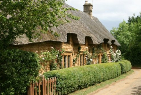 Thatched cottages, Great Tew