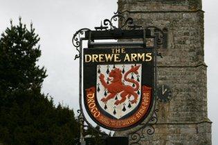 The Drewe Arms pub sign, Drewsteignton