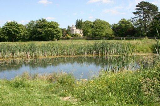 Village pond and The Orangery, Frampton on Severn
