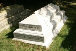Thomas Hardy's grave, St. Michael's Churchyard, Stinsford. His heart is buried here, along with his two wives, Emma and Florence