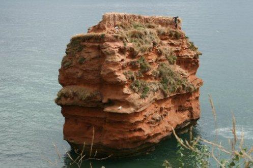Tombstoning, Ladram Rock, Ladram Bay, near Sidmouth