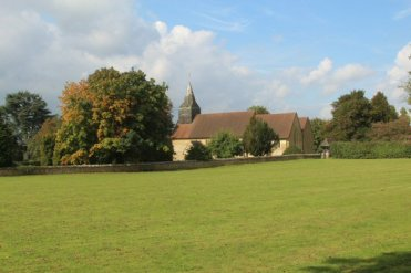 Village green and St. James Church, Abinger Common