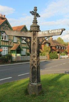 Village signpost, Albury