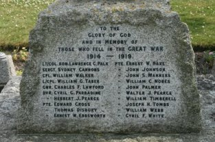 War Memorial, Ashbury (Ernest W. Ebbsworth is my ancestor)